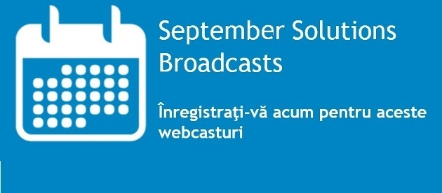 Dell Solutions Broadcasts – Septembrie-Octombrie